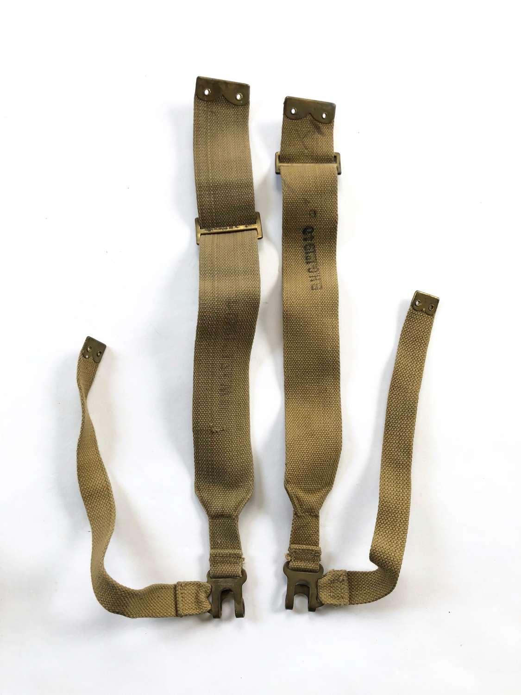 WW2 1940. 1937 Webbing L Brace Straps..