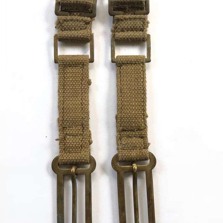 WW2 Pattern 1937 Webbing Brace strap clips.