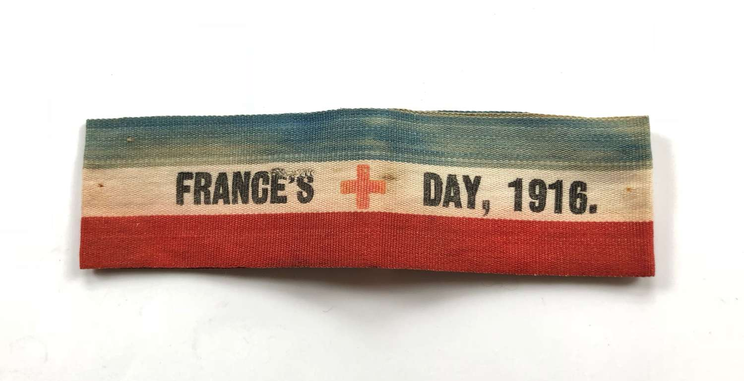 WW1 France's Day Red Cross 1916 Flag Day Collectors Armband.