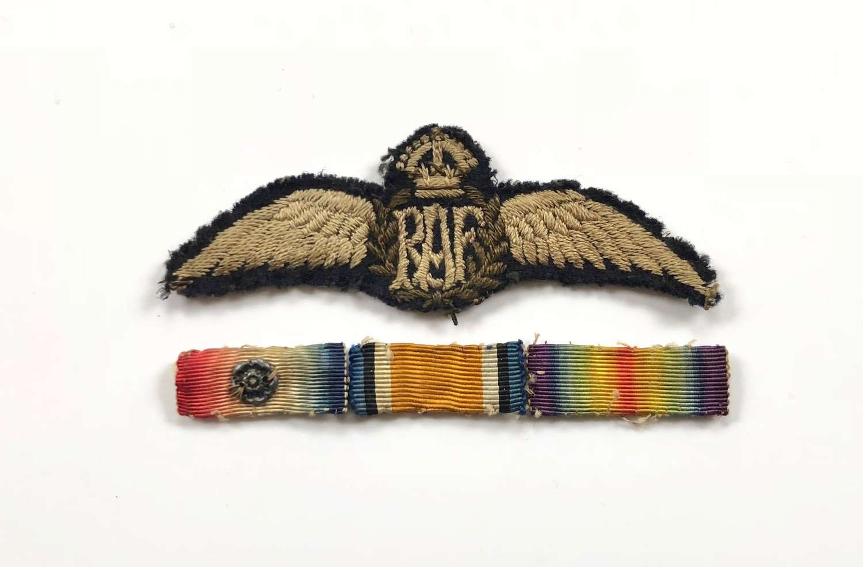 WW1 Attributed 1918 RAF Pilots Wings.