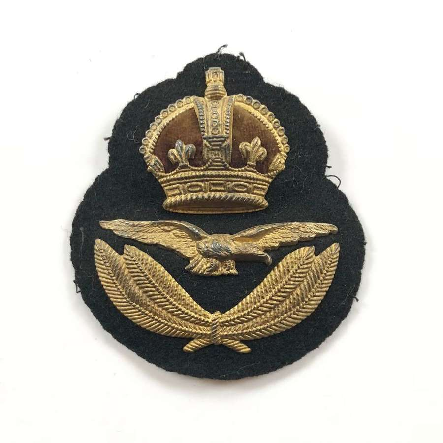 WW1 Attributed 1918 RAF Officer's Cap Badge by Gaunt.