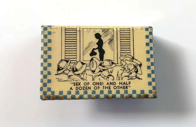 WW2 Australian Risque Matchbox Cover.