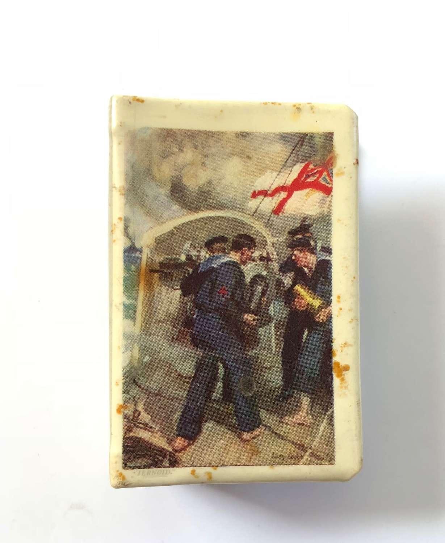 WW1 Patriotic Australian Advertising Navy Matchbox Cover