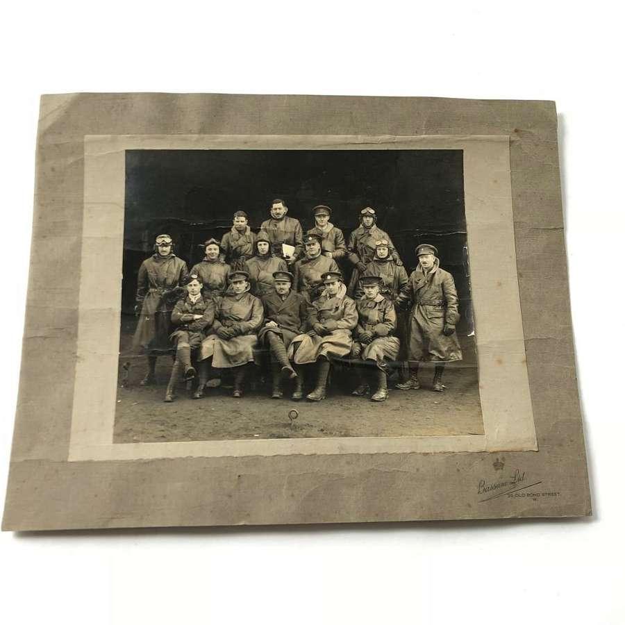 WW1 Royal Flying Corps Aircrew Large Photograph.