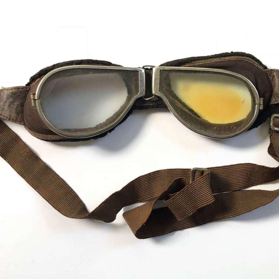 WW1 RFC RNAS RAF Pattern Flying Goggles.