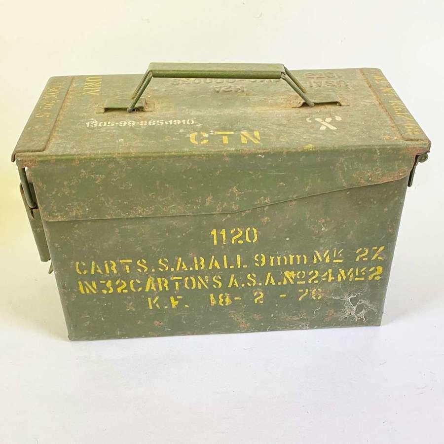 US Vietnam War Period 9mm Ammo Box.