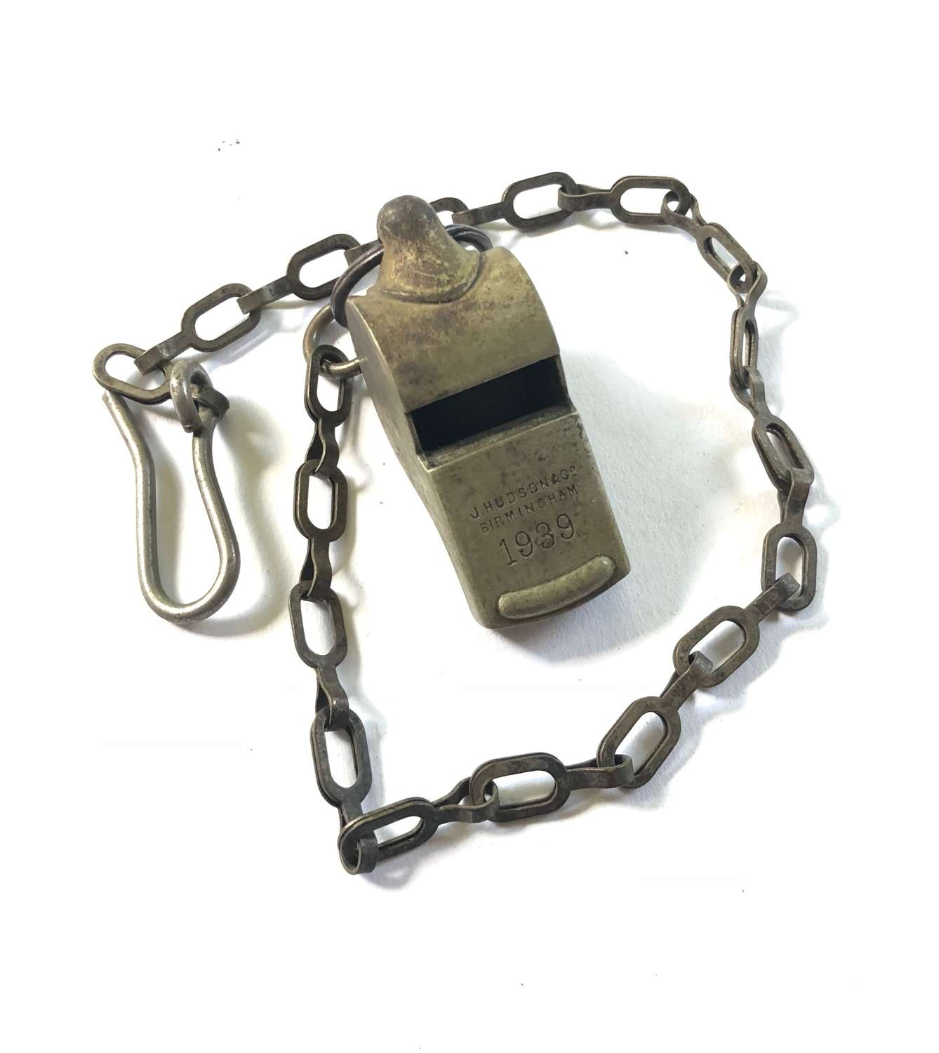 WW2 1939 Battle of France Whistle & Chain by Hudson & Co.