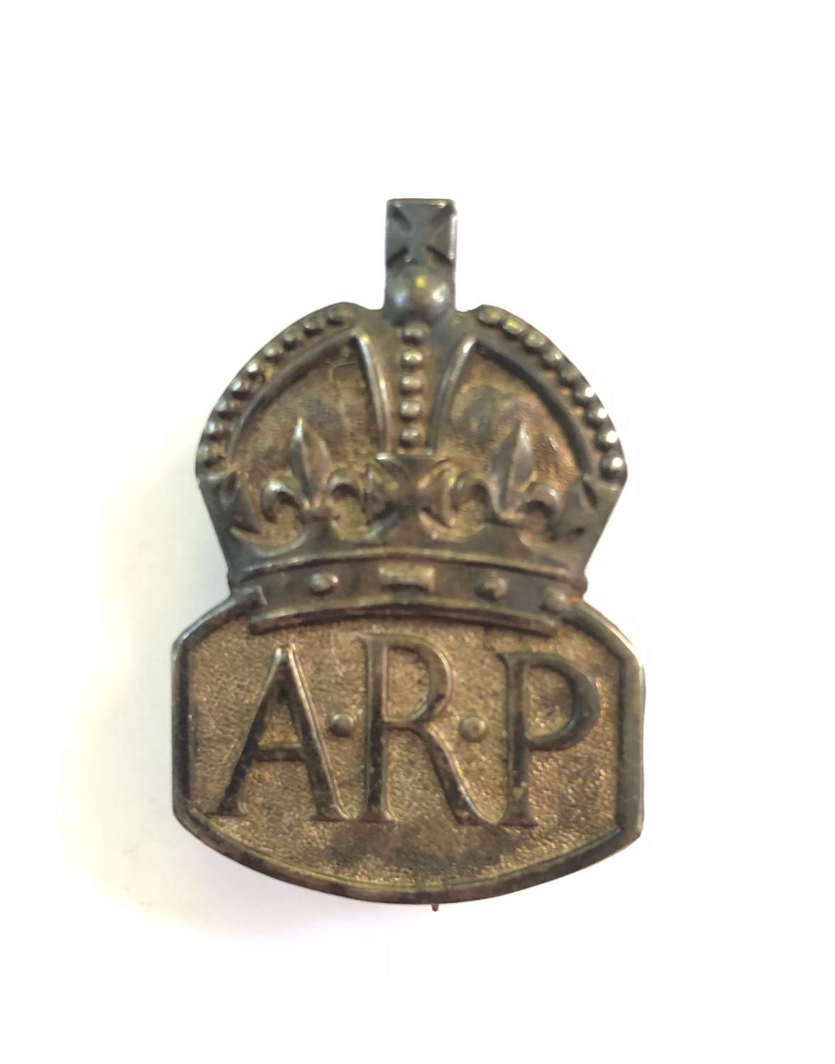 WW2 Home Front ARP 1938 Silver Badge.