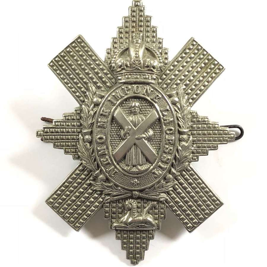 WW1 / WW2 Black Watch Glengarry Cap Badge.