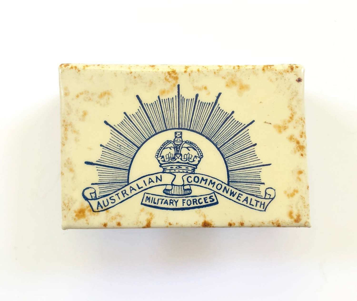 WW1 1917 Australian Expeditionary Force Red Cross Gift Matchbox Cover.