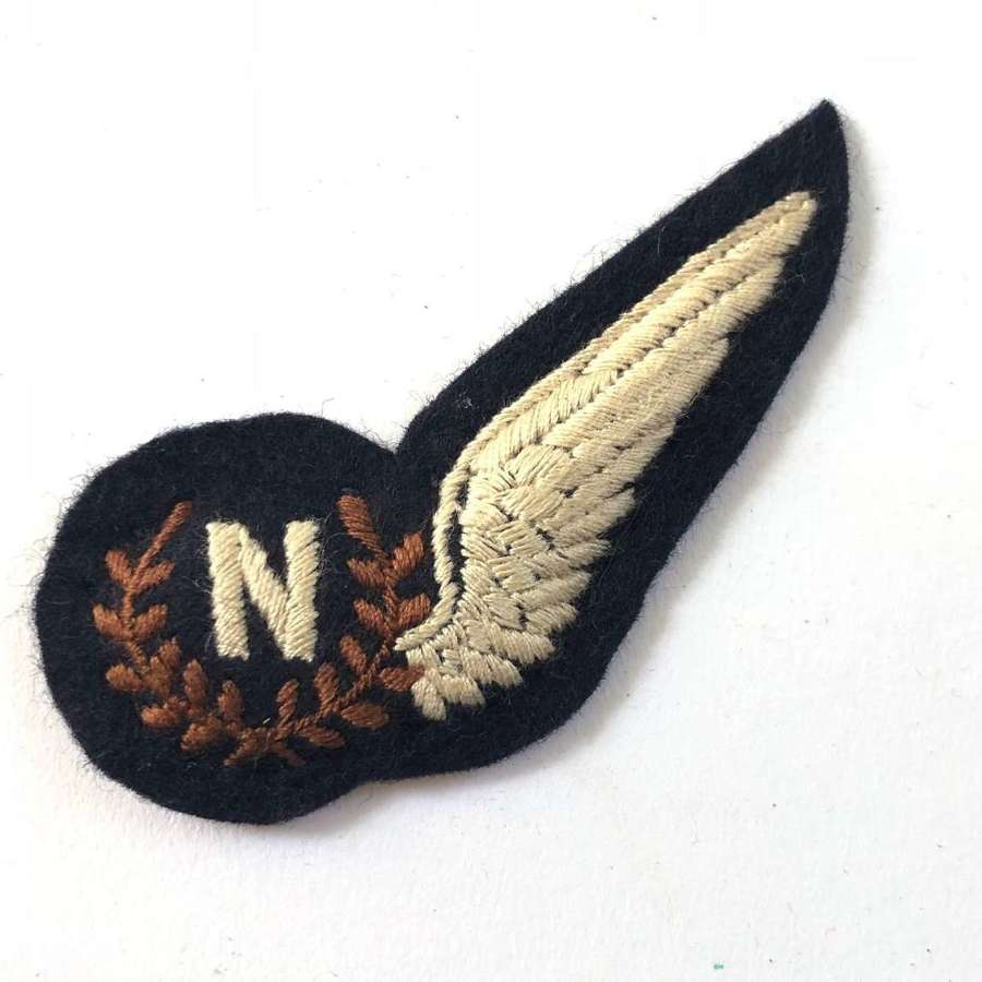 RAF Late WW2 / Cold War Period Navigator Brevet Badge.