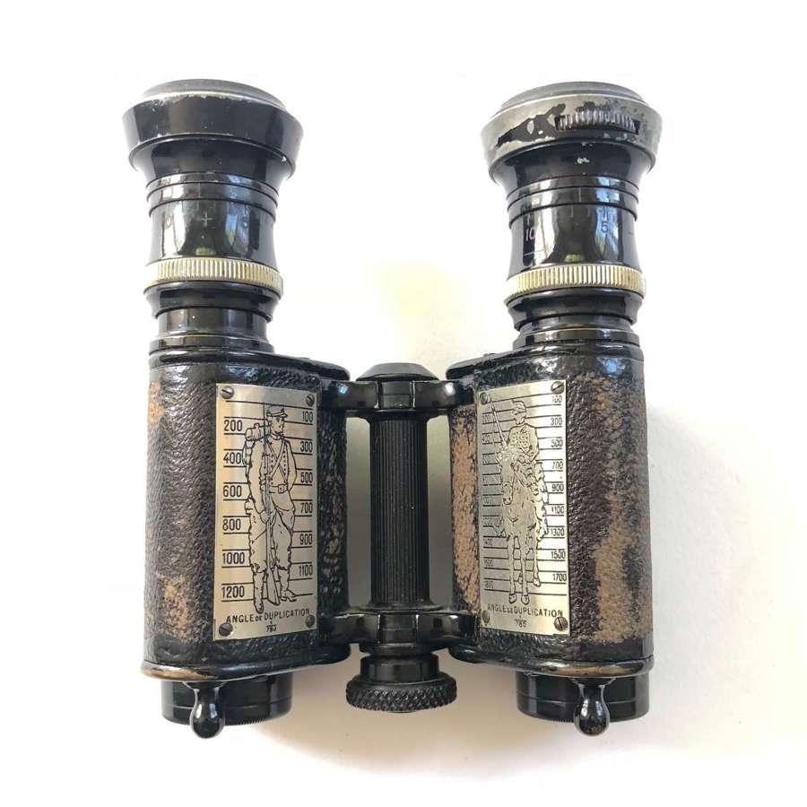 WW1 British Used French Military Binoculars.