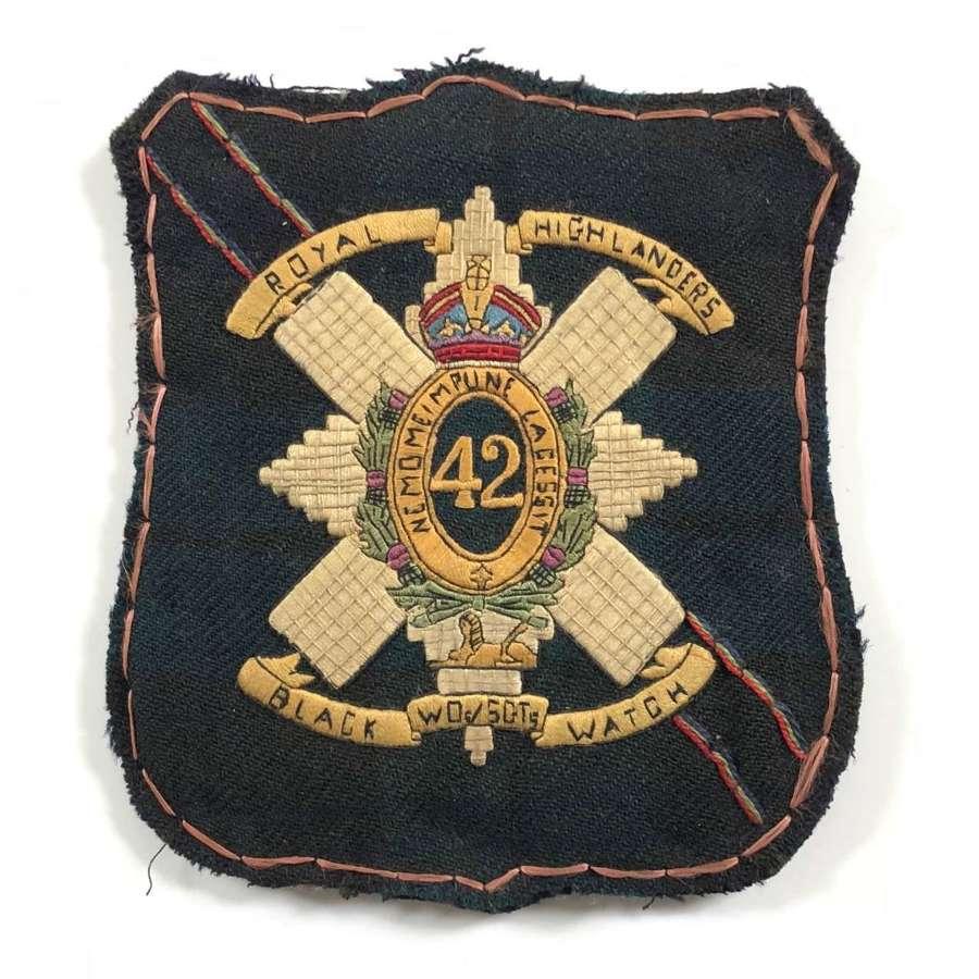 Black Watch Warrant Officer's & Sergeant's Souvenir Large Badge