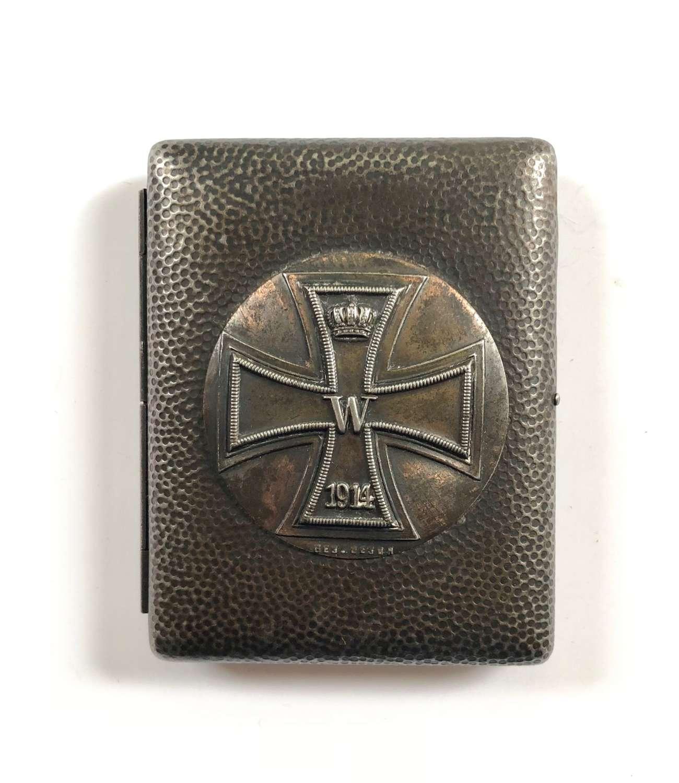 WW1 Imperial German Iron Cross Cigarette Case.
