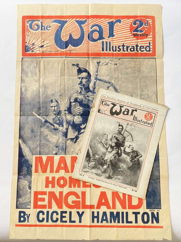 WW1 1915 Black Watch The War Illustrated Original Billboard Poster