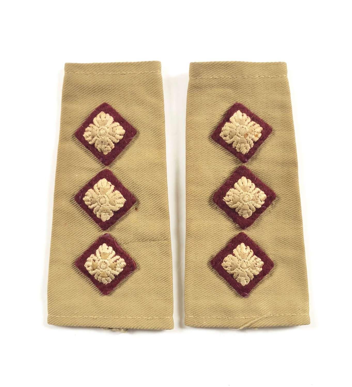 WW2 RAMC Middle East KD Rank Slip on Badge.