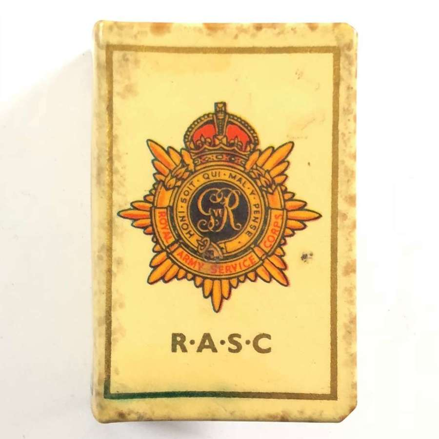 WW2 Royal Army Service Corps Matchbox Cover.