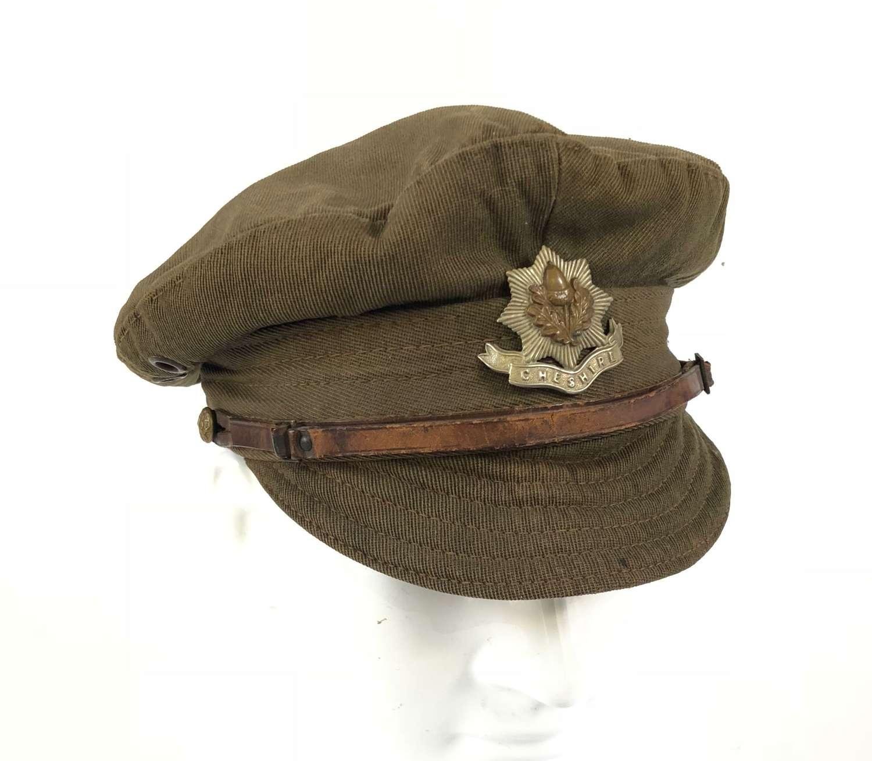 WW1 Cheshire Regiment Denim Trench Cap.