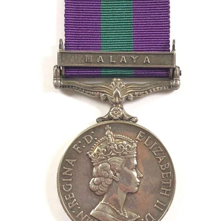 "East Yorkshire Regiment General Service Medal, Clasp ""Malaya"""