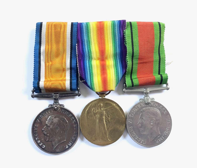 WW1 Queens Regiment Group of Medals