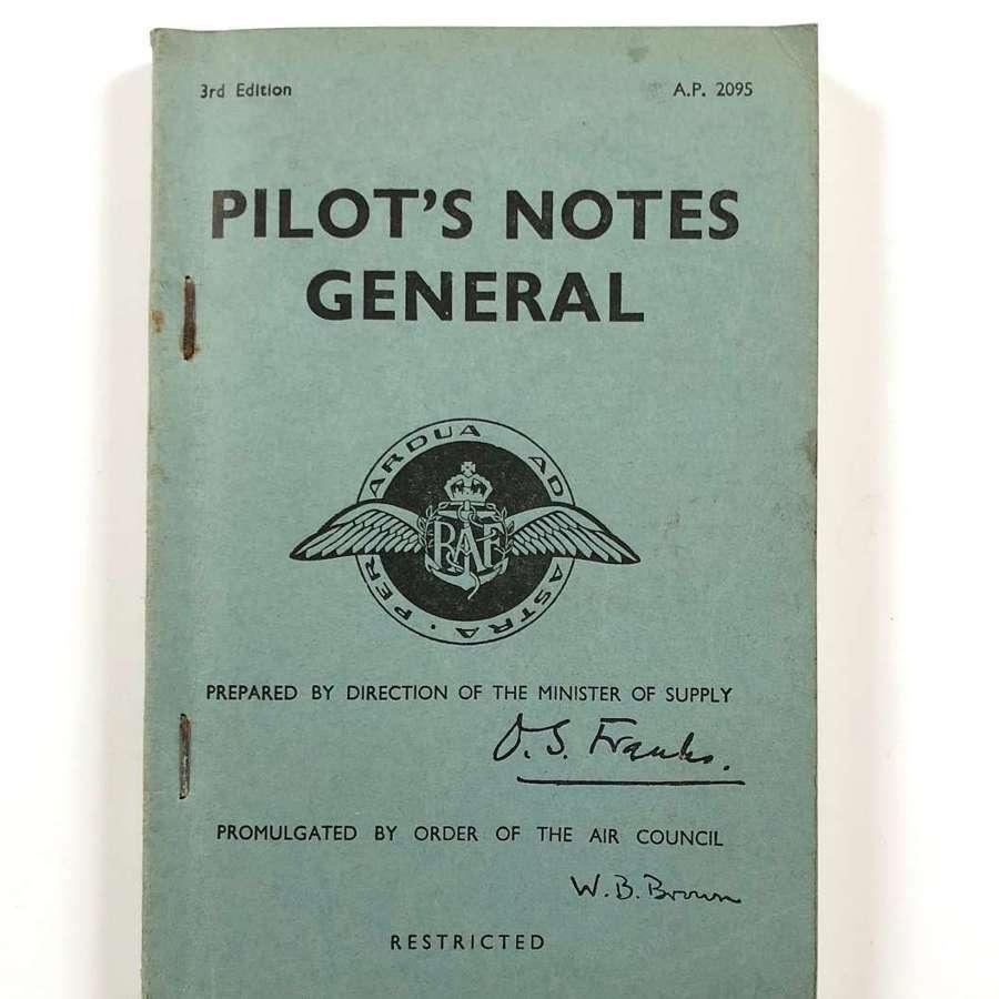 RAF Cold War 1946 Published Pilot's General Notes.