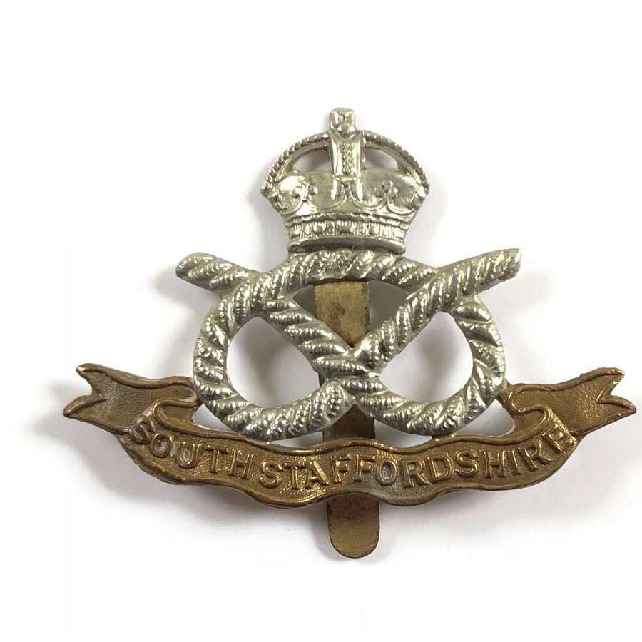 WW1 / WW2 South Staffordshire Cap Badge.