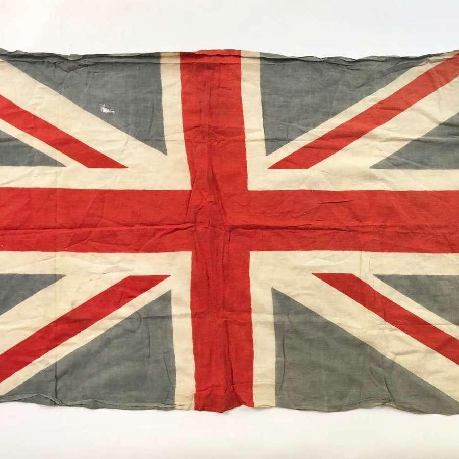 WW1 / WW2 Period Cotton Union Jack Patriotic Flag.