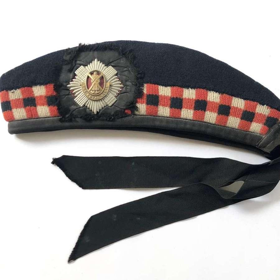 WW2 The Royal Scots Original Glengarry Side Cap.