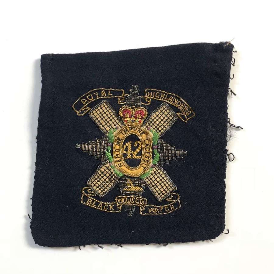 Black Watch Scottish Highland Regiment Blazer Badge