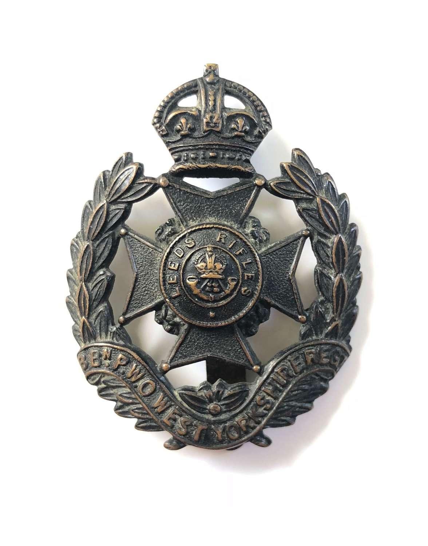 WW1 Leeds Rifles Cap Badge.