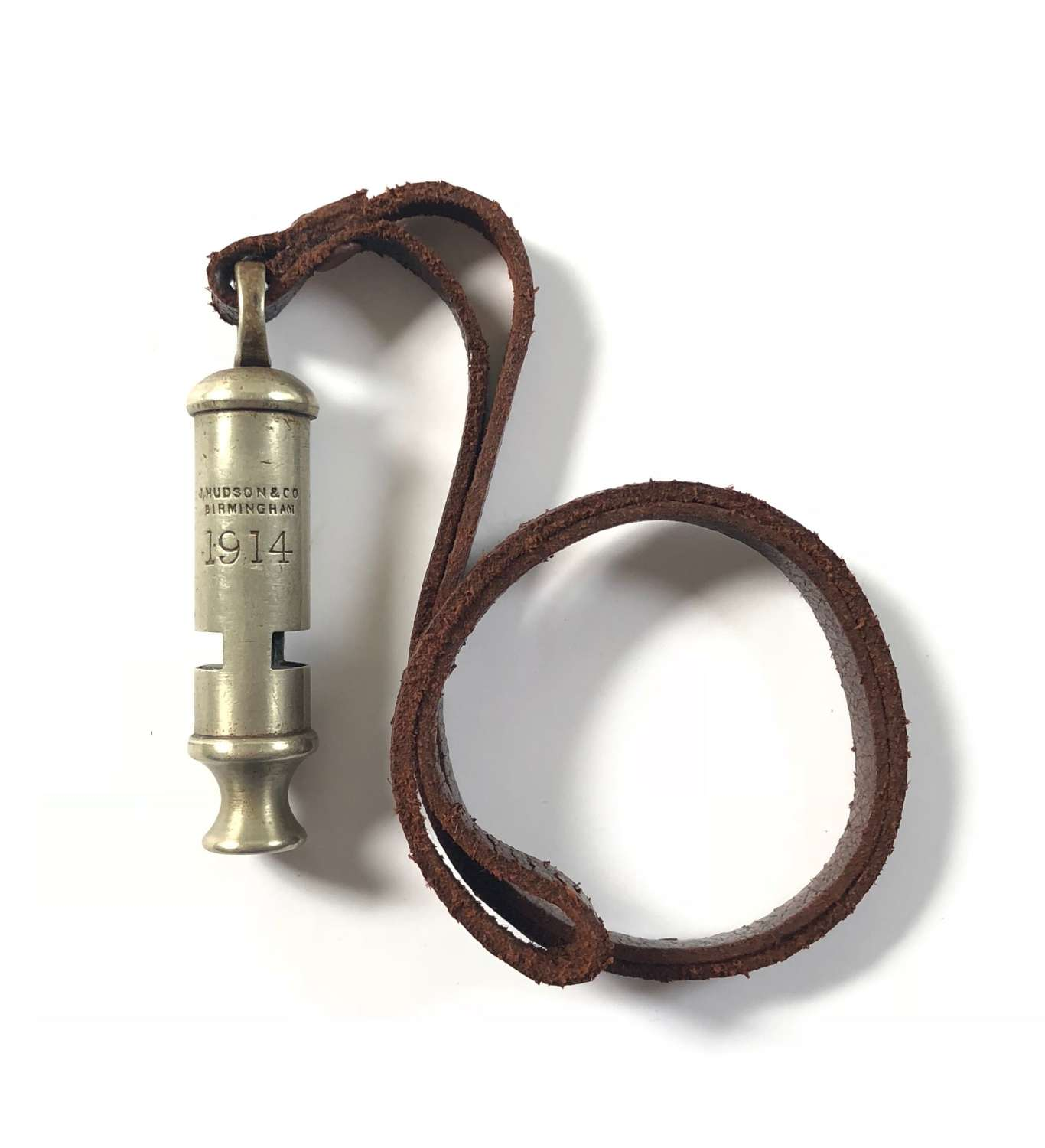 WW1 BEF 1914 Officer's Trench Whistle By Hudson.