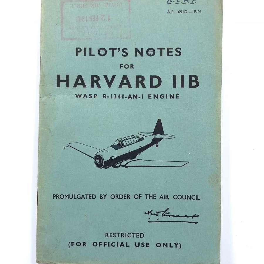 RAF WW2 Original Harvard IIB Pilot Notes.