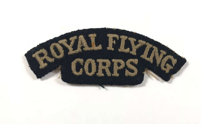WW1 Royal Flying Corps RFC Cloth Shoulder Title.