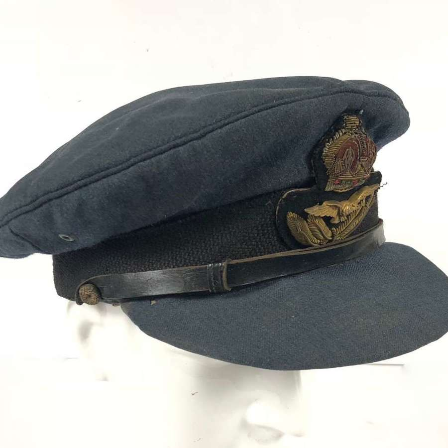 WW2 RAF Middle East Theatre Made Officers Cap.