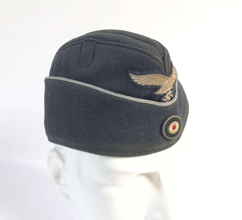 WW2 German Luftwaffe Officer Fliegermütze Side Cap.