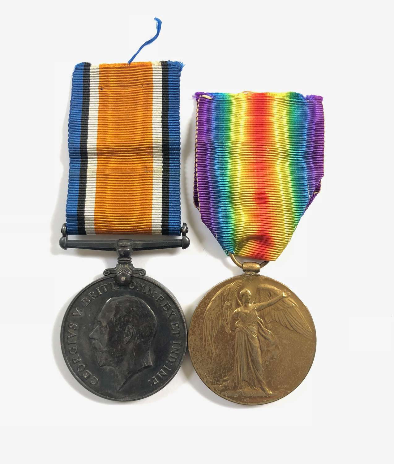 WW1 9th Lancers Pair of Medals.