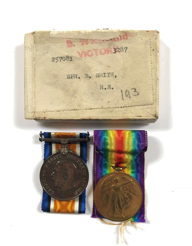 WW1 Royal Engineers Pair of Medals.