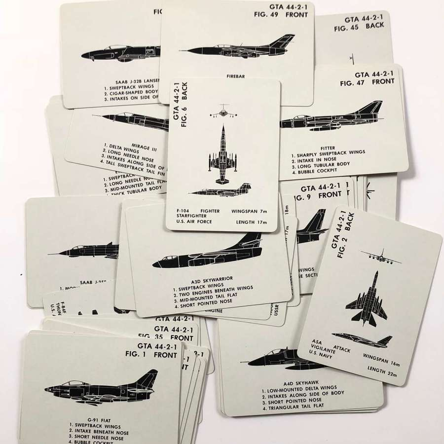 US Army Cold War Period Aircraft Recognition Cards NATO Aircraft.