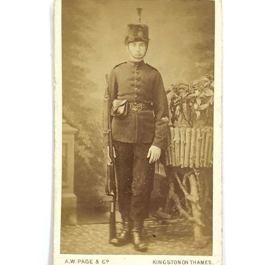 Victorian Rifle Volunteer carte de visite. Photograph Surrey