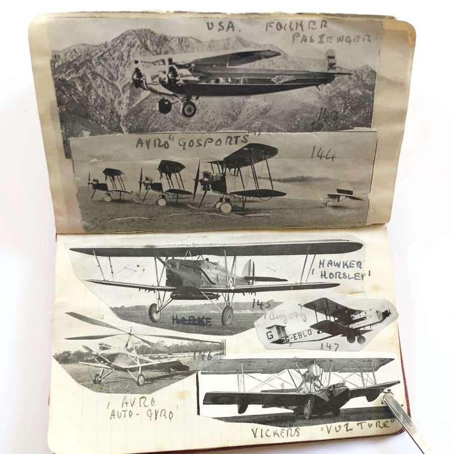 Interwar / WW2 Schoolboy Aviation Scrapbook.