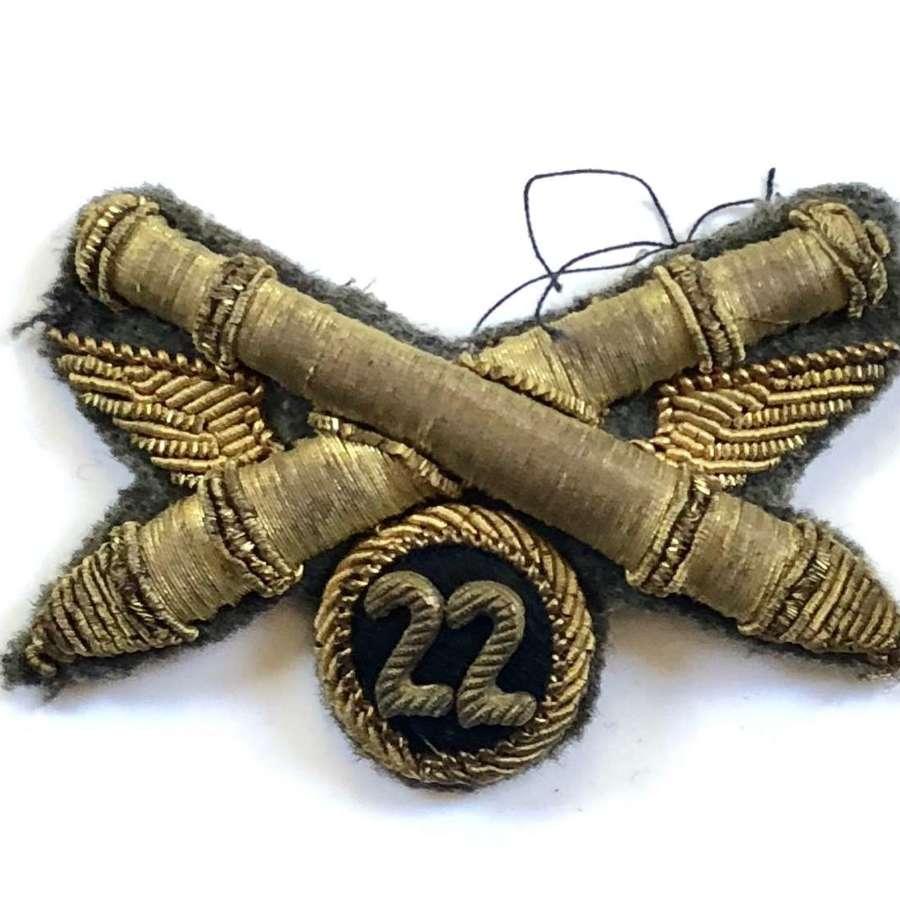 Italian 22nd Artillery Regiment Badge.