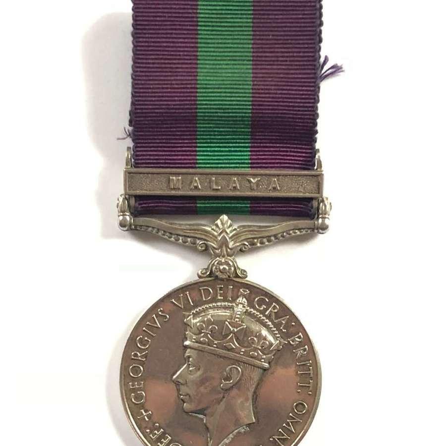RAF GSM Medal Malaya.