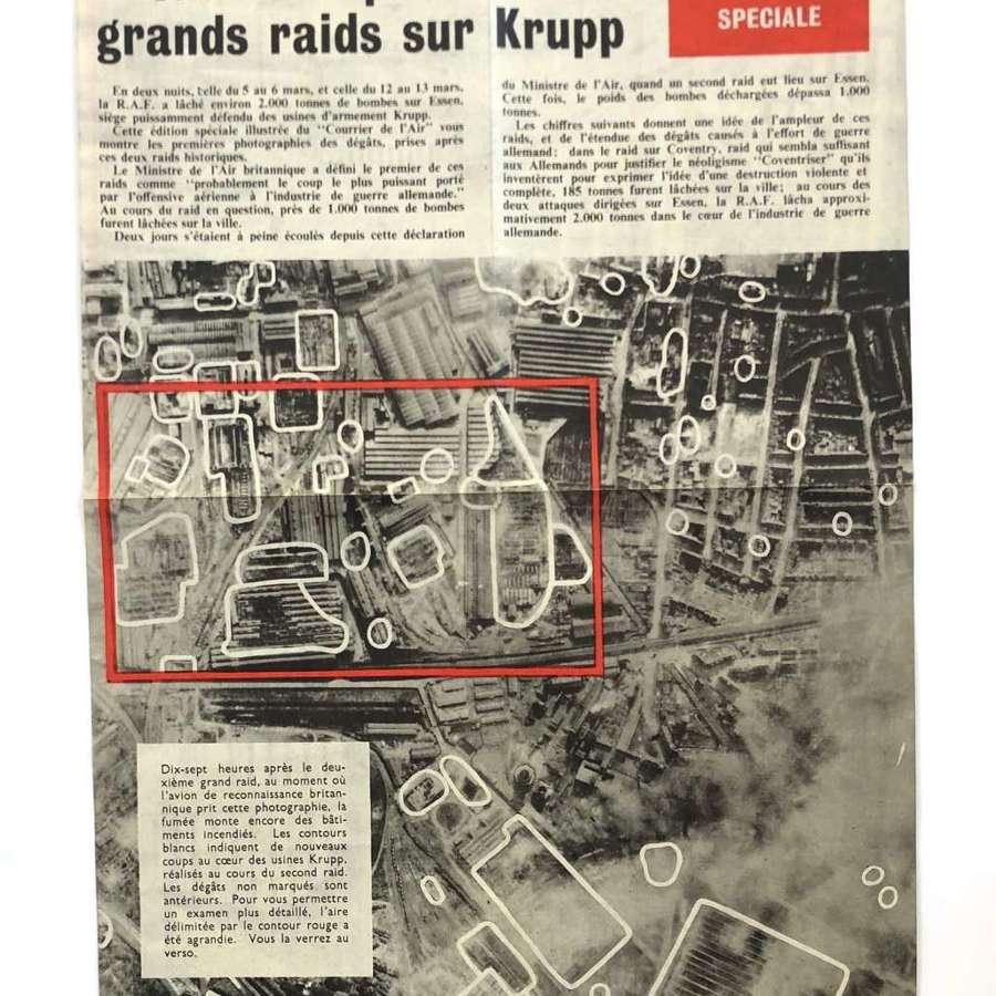 WW2 RAF Aerial Propaganda Leaflet ESSEN.