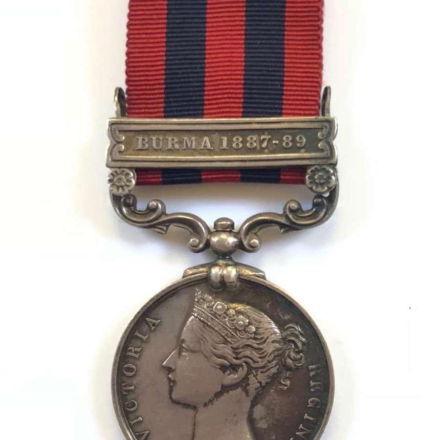 Victorian 2nd Bn Hampshire Regiment India General Service Medal.